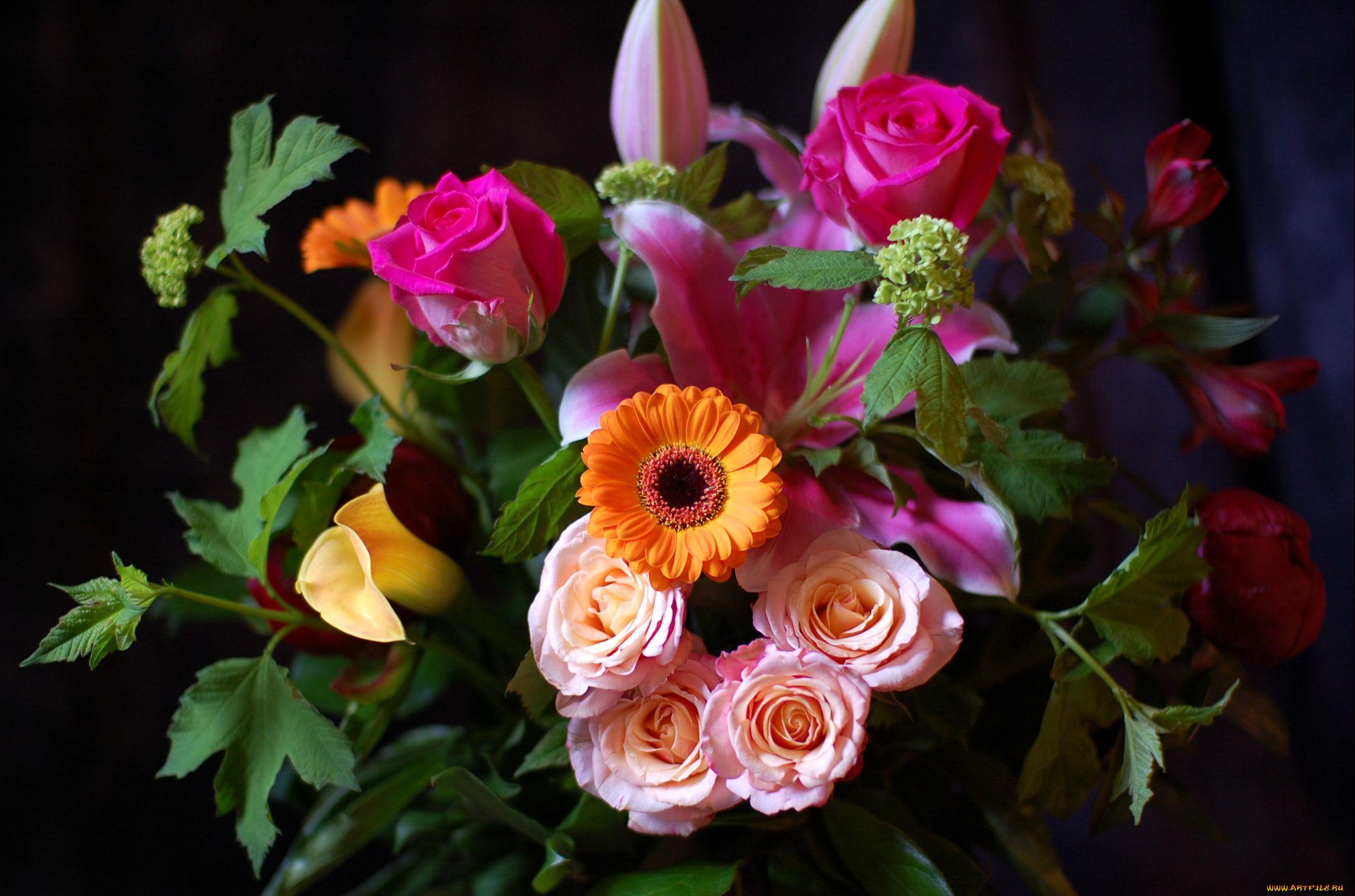 букет цветов фото домашний фон фотографии после